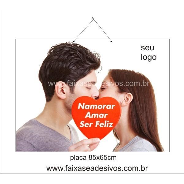 Placa Namorados 85 x 65cm  - FAC Signs Impressão Digital