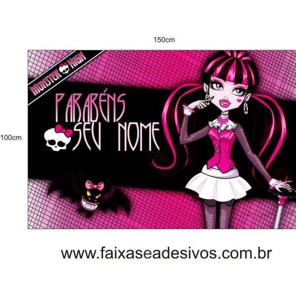 Painel Monster High 1,50 x 1,00m  - FAC Signs Impressão Digital