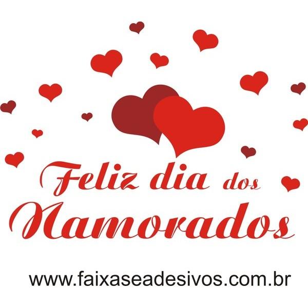Adesivo Dia dos Namorados Corações de Amor 1,20 x 0,80m  - FAC Signs Impressão Digital