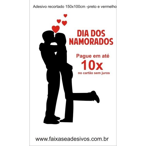 Adesivo Namorados Silhueta 1,50 x 1,00m  - FAC Signs Impressão Digital