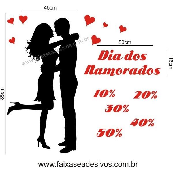 Adesivo Casal Namorados 1,00 x 1,00m  - FAC Signs Impressão Digital