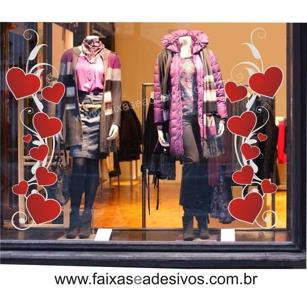 Adesivo Arabesco Coração Love 2 peças 1,60 x 0,50m  - FAC Signs Impressão Digital