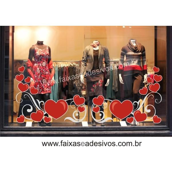 Adesivo Arabesco Barrado do Amor 2,40 x 1,00m  - FAC Signs Impressão Digital