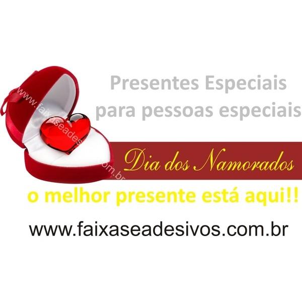 Adesivo Joia Dia dos Namorados 1,00 x 0,50  - FAC Signs Impressão Digital