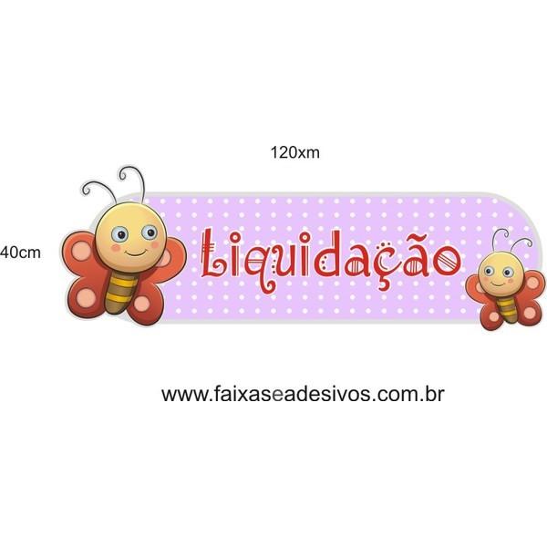 Adesivo Boton Kids Borboletinha 1,20 x 0,40m  - FAC Signs Impressão Digital