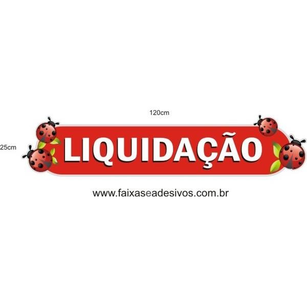 Adesivo Boton Liquidação Joaninha 1,20 x 0,25m  - Fac Signs