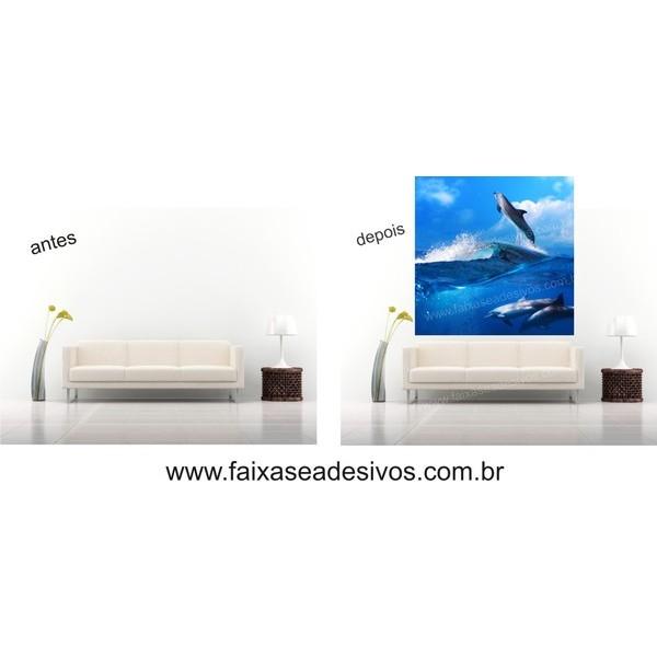 Painel Decorativo Golfinho 0,58 x 1,00m  - Fac Signs