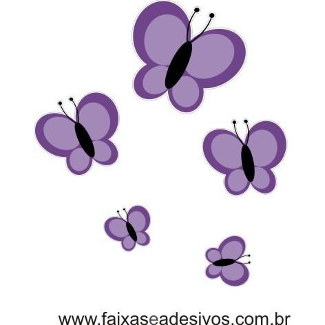 Borboletas da Amizade 5 peças - adesivo  - Fac Signs