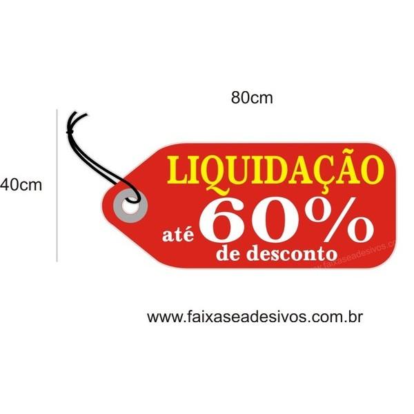 Adesivo Tag RED Liquidação 80 x 40cm  - Fac Signs