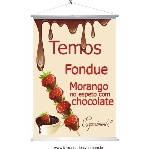 Banner Fondue 1,00 x 0,70m  - FAC Signs Impressão Digital
