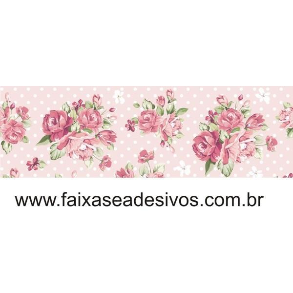 Faixa Adesiva de parede Rosas Classic 20cm altura  - Fac Signs