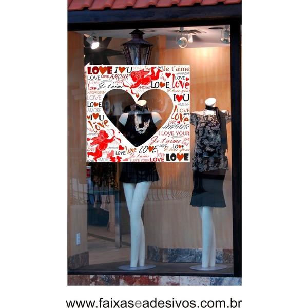 Adesivo Love Cupido Coração 80 x 60m  - Fac Signs