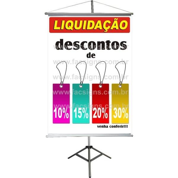 Banner Desconto 10% até 30% - 1,00 x 0,70  - FAC Signs Impressão Digital