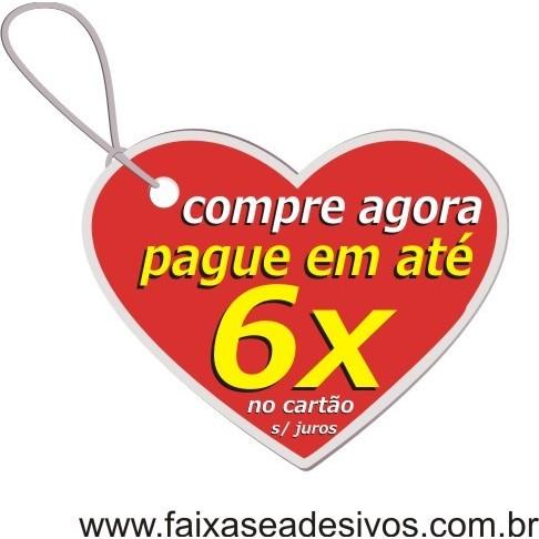 Adesivo Tag Coração Pagamento Parcelado 60x50cm  - Fac Signs