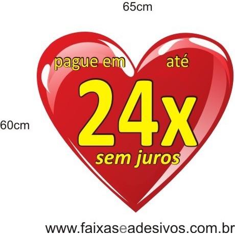 Adesivo Coração 24 vezes sem juros* 65 x 60cm  - Fac Signs