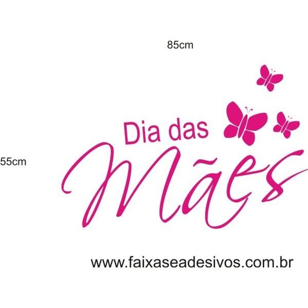 Adesivo Dia das Mães Borboletas 85 x 55cm  - FAC Signs Impressão Digital