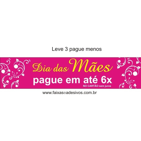 Adesivo Dia das Mães Tarja Arabesco Leve 3 peças e pague menos  - Fac Signs