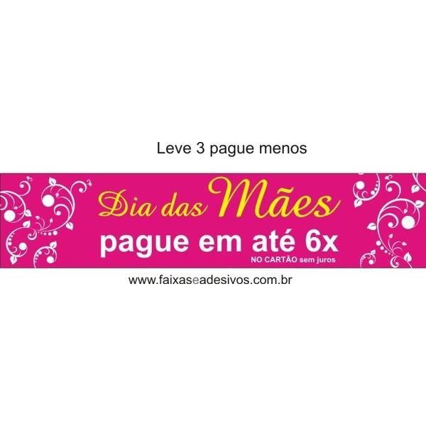 Adesivo Dia das Mães Tarja Arabesco 1,20 x 0,40m  - Fac Signs