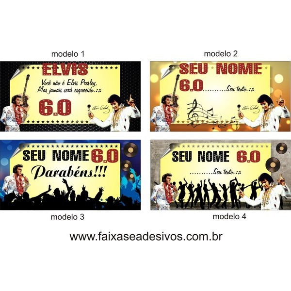 Painel Elvis Presley 1,40 x 2,00m  - Fac Signs