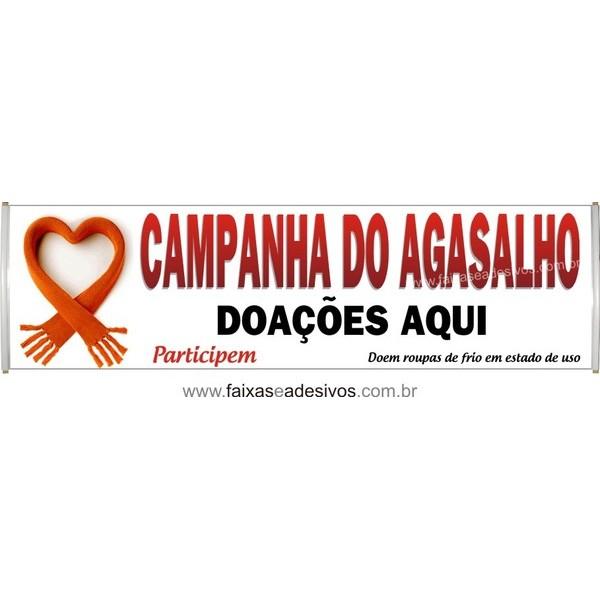 Faixa Campanha do Agasalho 2,50 x 0,70m  - Fac Signs