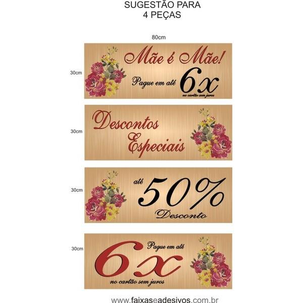 Adesivo Wood roses Mãe é Mãe 80x30cm  - Fac Signs