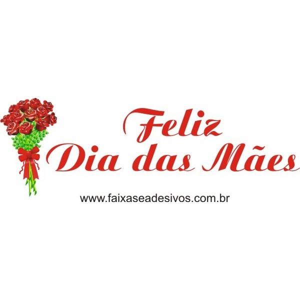 Dia das Mães adesivo ramalhete de rosas  - FAC Signs Impressão Digital