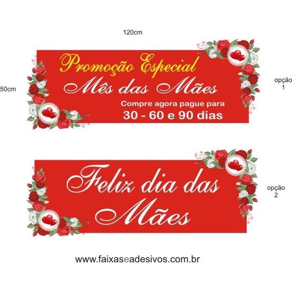 Adesivo Dia das Mães Tarja cantoneira de rosas vermelhas  - Fac Signs