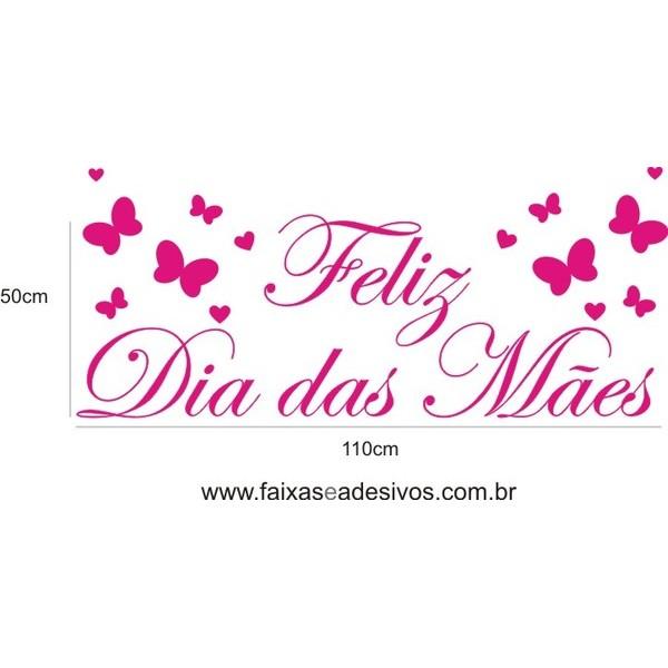 Dia das Mães adesivo Borboletas SW Pink 110x50cm  - Fac Signs