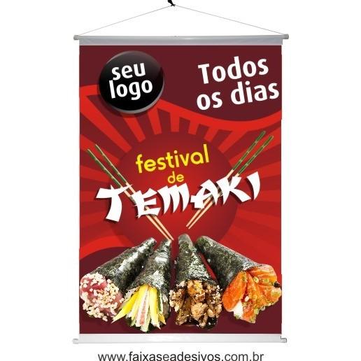 banner TEMAKI  impresso 120x80cm A  - Fac Signs