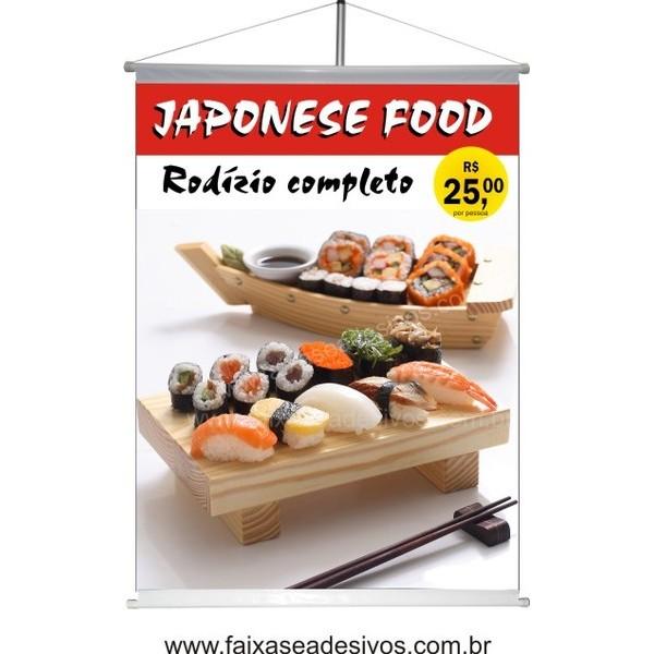 Comida Japonesa Banner impresso 90x120cm  - Fac Signs