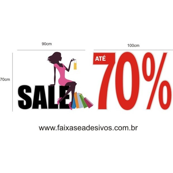 Adesivo Sale 70% 1,00 x 1,45m  - Fac Signs