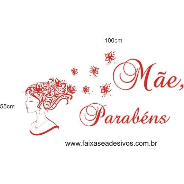 Adesivo Dia das Mães Cabelo ao Vento 1,00 x 0,55m  - Fac Signs