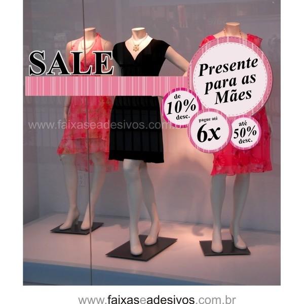 Adesivo promocional SALE Dia das Mães 170cm  - Fac Signs