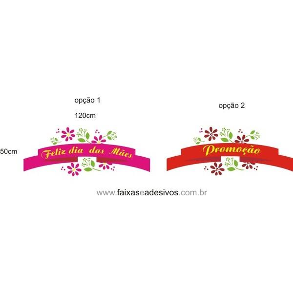 Adesivo decorativo fita com flores 120x50cm  - Fac Signs