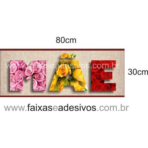 Adesivo Mãe textura de Flores 80x30cm  - Fac Signs