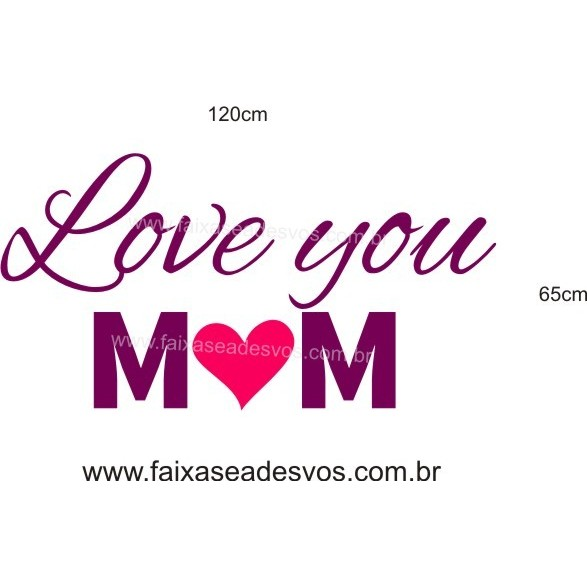 Adesivo Love You M?M 1,20 x 0,65m  - Fac Signs