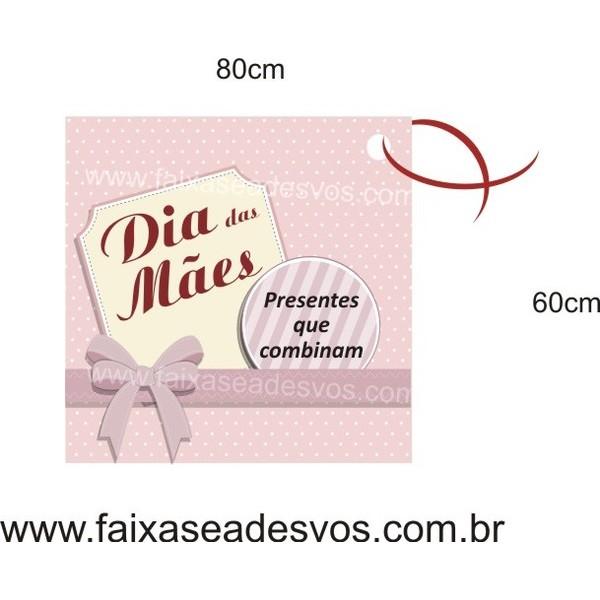Adesivo Mãe Combina 80 x 60cm  - Fac Signs