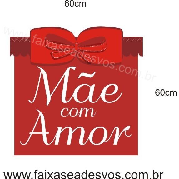 Adesivo Dia Das Mães com Amor 60 x 60cm  - Fac Signs