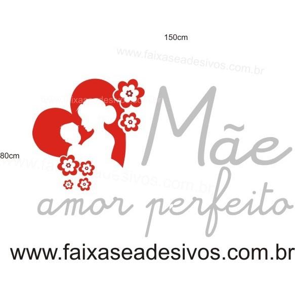 Adesivo Dia das Mães Amor Perfeito 1,50 x 0,80m  - Fac Signs