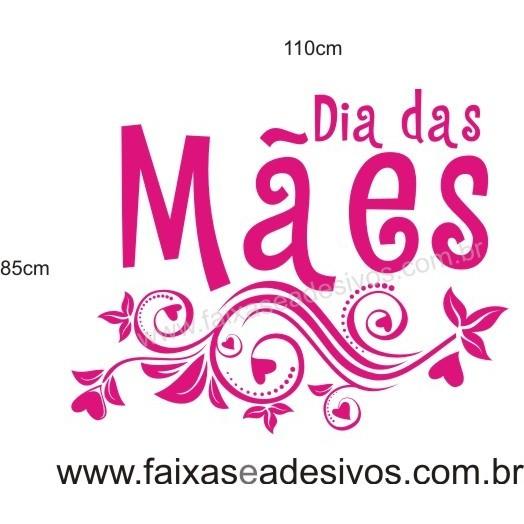 Adesivo Dia das Mães Arabesco Pink 1,10 x 0,85m  - Fac Signs