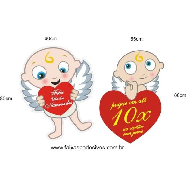 Adesivo Cupidos Dia dos Namorados 80 x 60cm  - Fac Signs