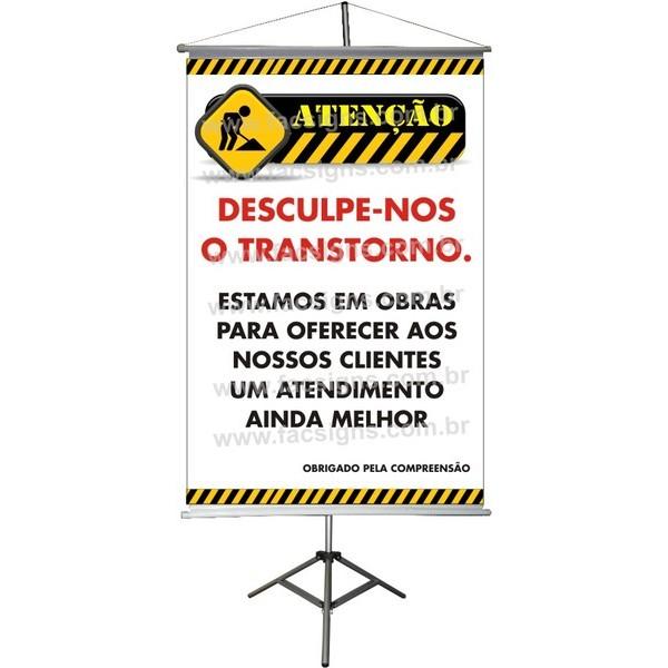 Banner Informativo (Estamos em Obras)   - FAC Signs Impressão Digital