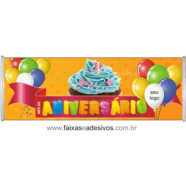 Faixa Aniversário de Loja 2,00 x 0,70m  - Fac Signs