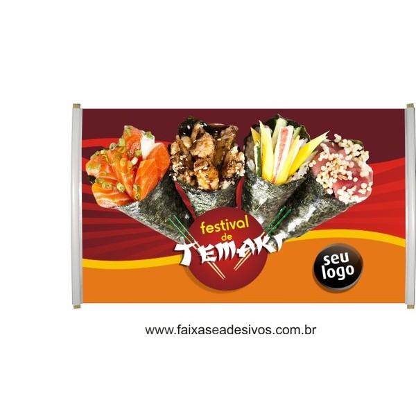 Faixa Temaki 1,50 x 0,90m  - Fac Signs