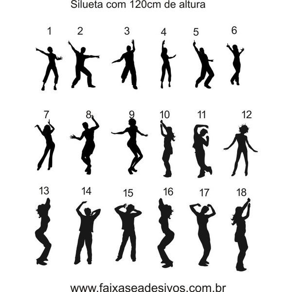 Adesivo Silhueta Individual 1,20m  - Fac Signs