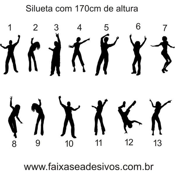 Adesivo Silhueta Individual 1,70m  - Fac Signs
