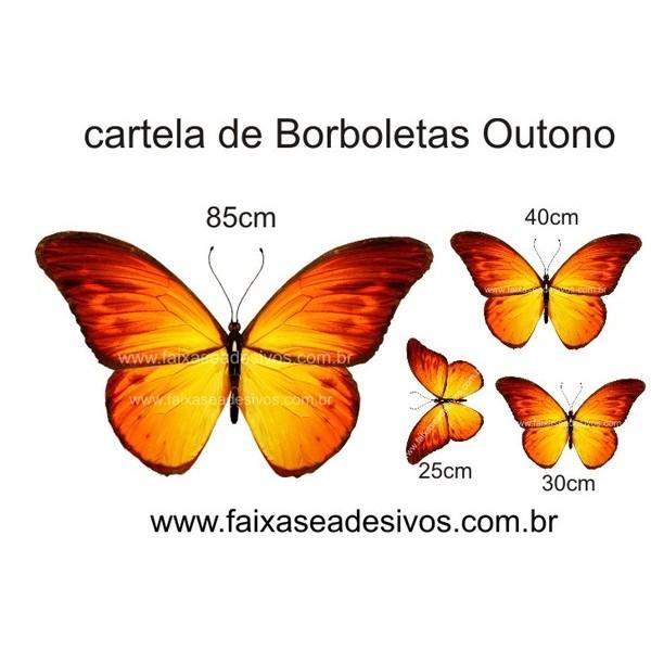 Borboletas Outono Cartela de adesivo  - FAC Signs Impressão Digital