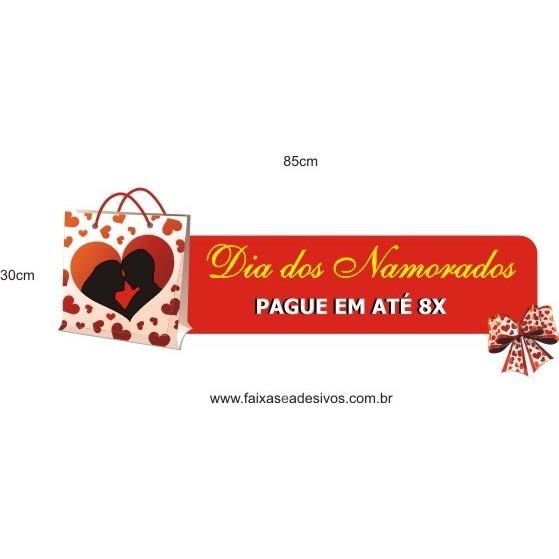 Adesivo Dia dos Namorados sacola 85 x 30cm  - Fac Signs