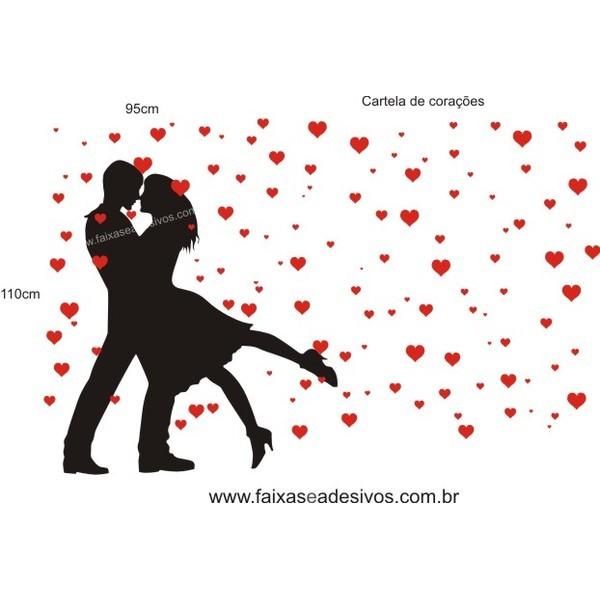 Adesivo Baila Comigo + Corações  - FAC Signs Impressão Digital
