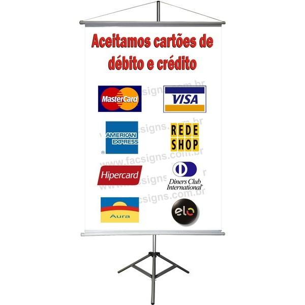 Banner Cartões de Crédito 60 x 40cm  - FAC Signs Impressão Digital